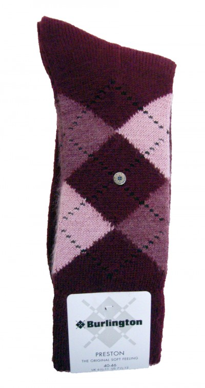 24284 Preston Argyle Soft Feel Sock garment details