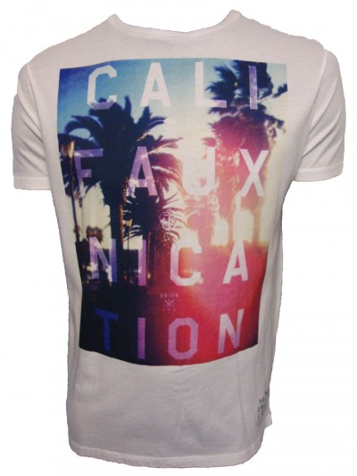 Friend or Faux Califauxnication Photo Print Logo T Shirt T-Shirts, from ApacheOnline :  mens clothing designer fashion