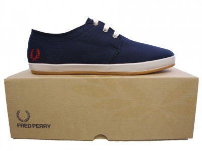 Fred Perry B9101 Finn Twill Plimsoll Footwear from ApacheOnline from apacheonline.co.uk