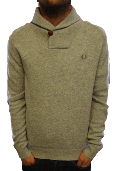 Fred Perry K6397 Shawl Neck Knitwear Knitwear, from ApacheOnline