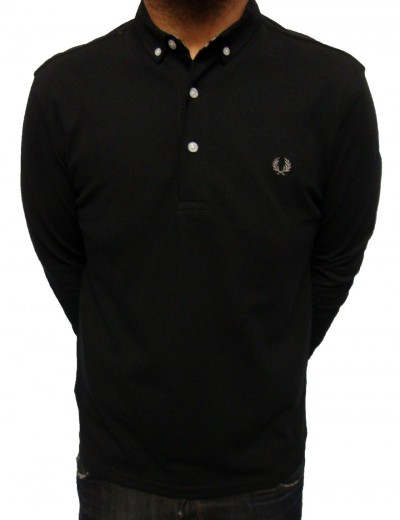 Fred Perry M8360 Long Sleeve Button Down Polo Shirt Polo Shirts, from ApacheOnline :  menswear fashion m8360 long sleeve button down polo shirt mens