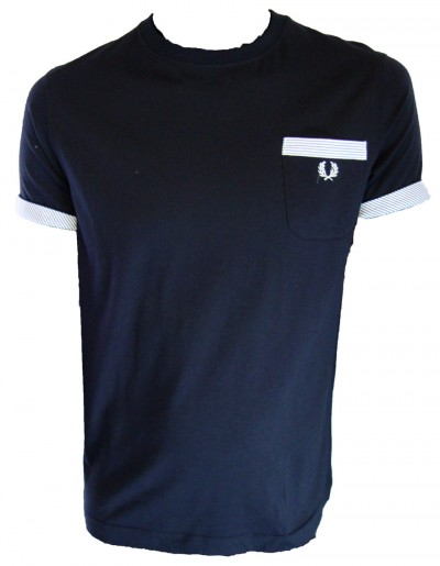 Fred Perry M9221 Woven Stripe Trim T Shirt T-Shirts, from ApacheOnline :  menswear fashion m9221 woven stripe trim t shirt mens