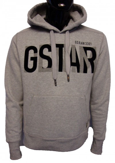 G Star Raw Monty Flocked Logo Hoody Hoodies from ApacheOnline from apacheonline.co.uk