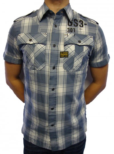G-Star Raw Tunnel Small Stark Check Shirt Shirts, from ApacheOnline :  mens gstar raw check apache