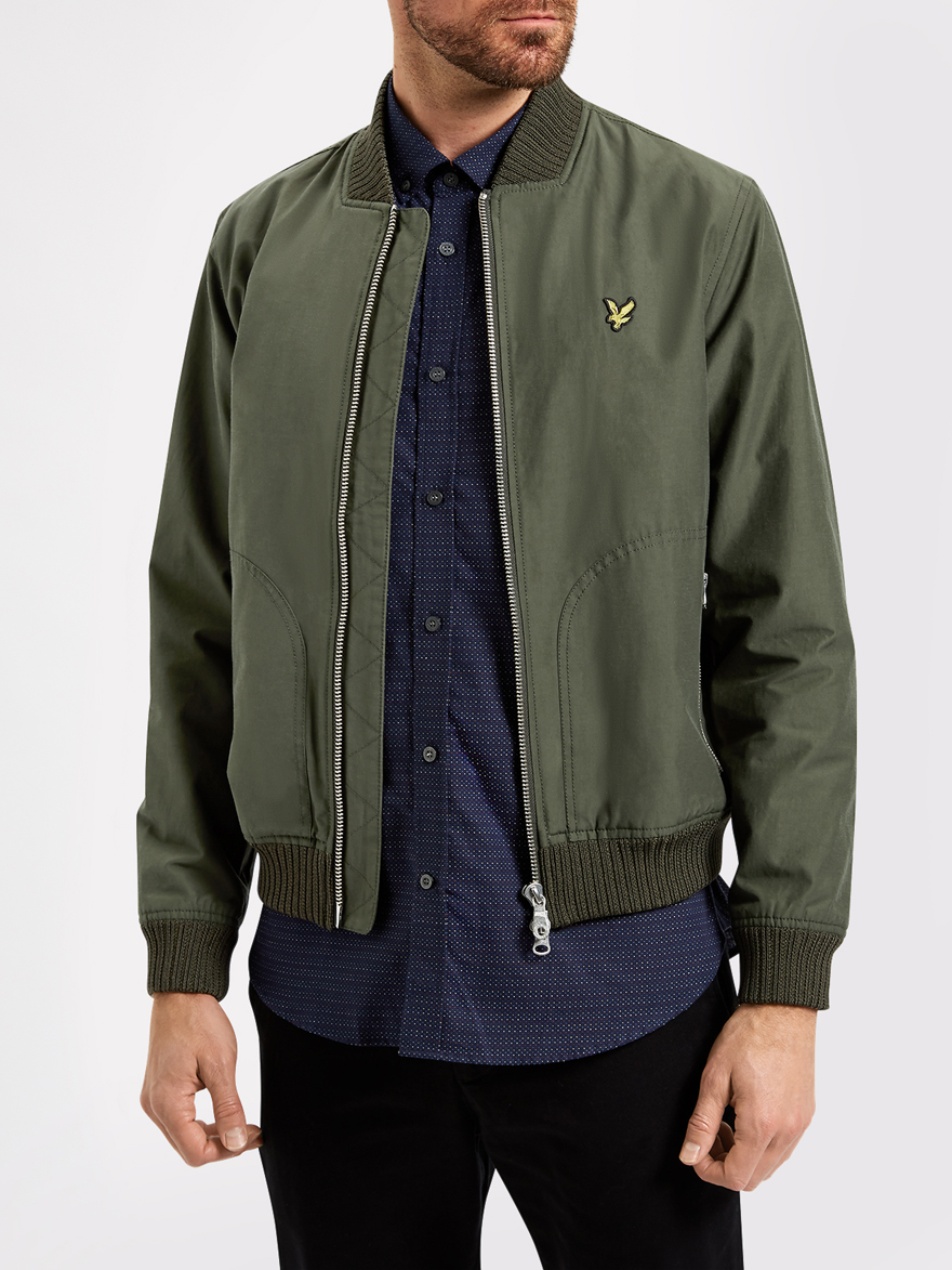 lyle and scott jk405v bomber jacket jackets from apacheonline. Black Bedroom Furniture Sets. Home Design Ideas