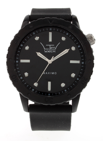 LTD Watch LTD Rubber Strap Watch Watches, from ApacheOnline :  menswear fashion black mens