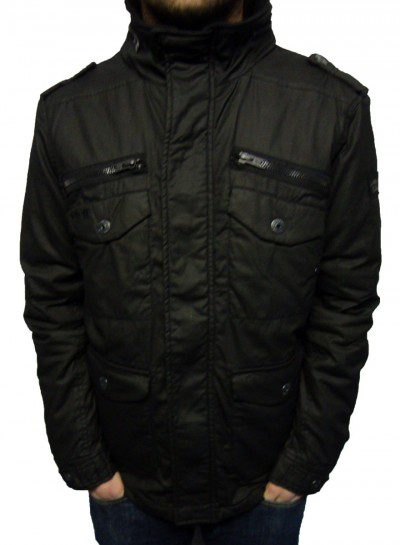 Schott NYC Marlon Wax Zip Thru Jacket Jackets, from ApacheOnline