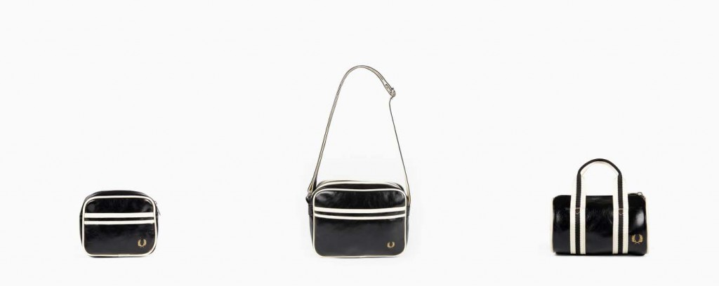 Fred Perry Mini Classic Leather Shoudler Bag Barrel Satchel