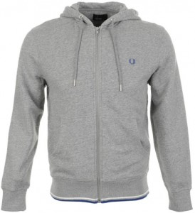 fred perry zip hooded sweat