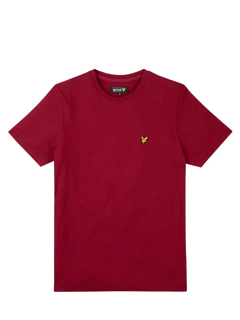 Scott Lyle Plain Crew Neck T Shirt berry red