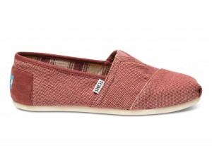 Toms Shoes, Tom Toms Farrin Classic Plimsoles Burgundy Red
