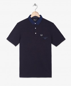 navy fred perry polo