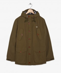 fred perry parka coat