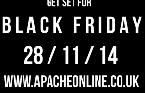 15% Black Friday Discount Code at Apacheonline.co.uk