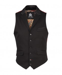 guide london waistcoat jacket black
