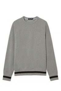 fred-perry-crew-neck-pique-sweatshirt-steel-marl