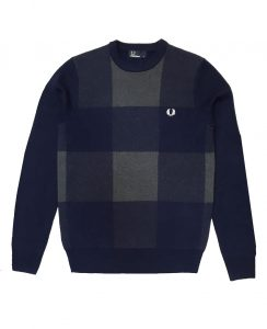 fred-perry-navy-magnified-gingham-knitwear