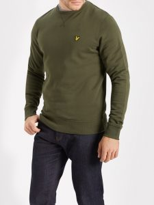 lyle-and-scott-dark-sage-crew-neck-sweatshirt