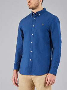 F4WS4054 Brewer Button Down Oxford Shirt by Farah