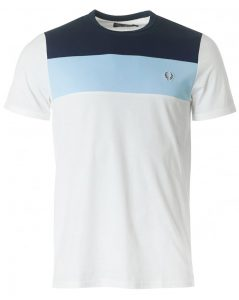 M2544 Colour Block Panel T Shirt by Fred Perry