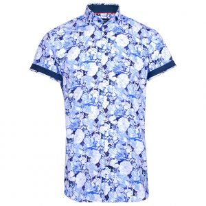 Blues Short Sleeve Floral Shirt by Jiggler Lord Berlue