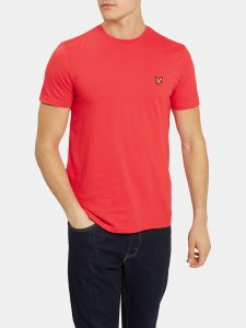 TS400V Plain Crew Neck T Shirt by Lyle and Scott