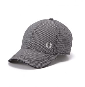 HW3632 Mini Gingham Check Baseball Cap by Fred Perry