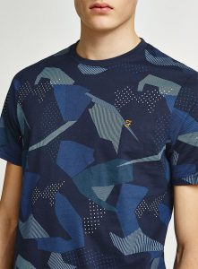 F4KS8082 Northenden Print T Shirt by Farah