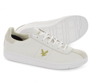 FW806 Cooper Leather Trainer by Lyle and Scott