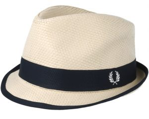 HW3639 Straw Trilby by Fred Perry