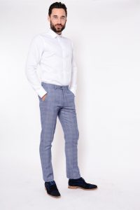 Harry Check Trouser by Marc Darcy