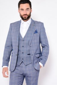 Harry Windowpane Check Blazer Jacket by Marc Darcy