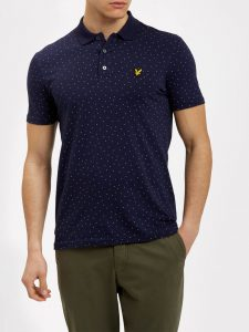 SP701V Mini Square Dot Polo Shirt by Lyle and Scott