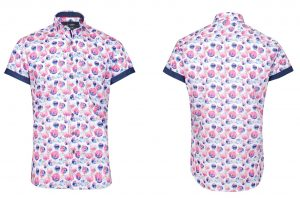Easton Short Sleeve Retro Print Shirt by Jiggler Lord Berlue