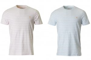 F4KS8070 Salford Yarn Dyed Striped T Shirt by Farah
