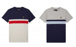 TS903V Yoke Stripe T Shirt by Lyle and Scott