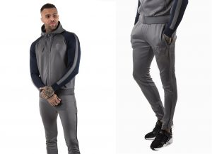 GK Lester Reflective Poly Tracksuit Top by Gym King