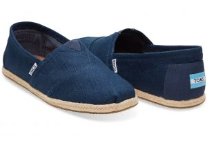 Classic Linen Slip On Shoe by Toms