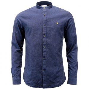 F4WS60H0 Steen Grandad Shirt by Farah