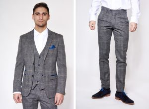 Scott Check Blazer Jacket and Trousers by Marc Darcy