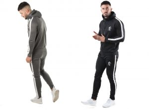 GK Tapered Poly Tracksuit Top by Gym King