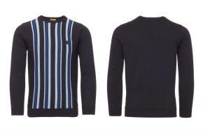 V39GM04 Bauhaus Stripe Knitwear by Gabicci Vintage