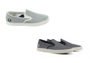B3149 Underspin Slip On Printed Canvas by Fred Perry