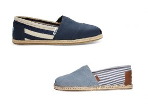 Classic Chambray Stripe Blanket Stitch by Toms