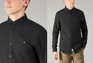 F4WF4040 Steen Brushed Marl Shirt by Farah