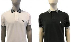 TR8373 Houndstooth Collar Polo Shirt by Trojan