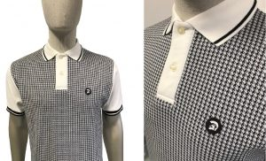 TR8371 Houndstooth Front Polo Shirt by Trojan