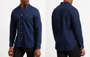 LW910V Denim Shirt by Lyle and Scott