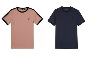 M3582 Tonal Taped Ringer T Shirt by Fred Perry