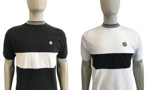 SS2239 Chequerboard Trim T Shirt by Ska and Soul